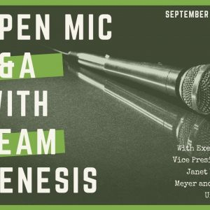 Team Genesis Open Mic Q&A Replay - Septemeber 7, 2019