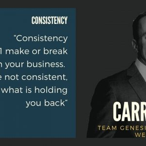 The Best of Brian Carruthers Interview – Consistency